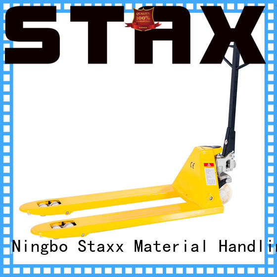 Staxx electric pallet stacker truck company for hire