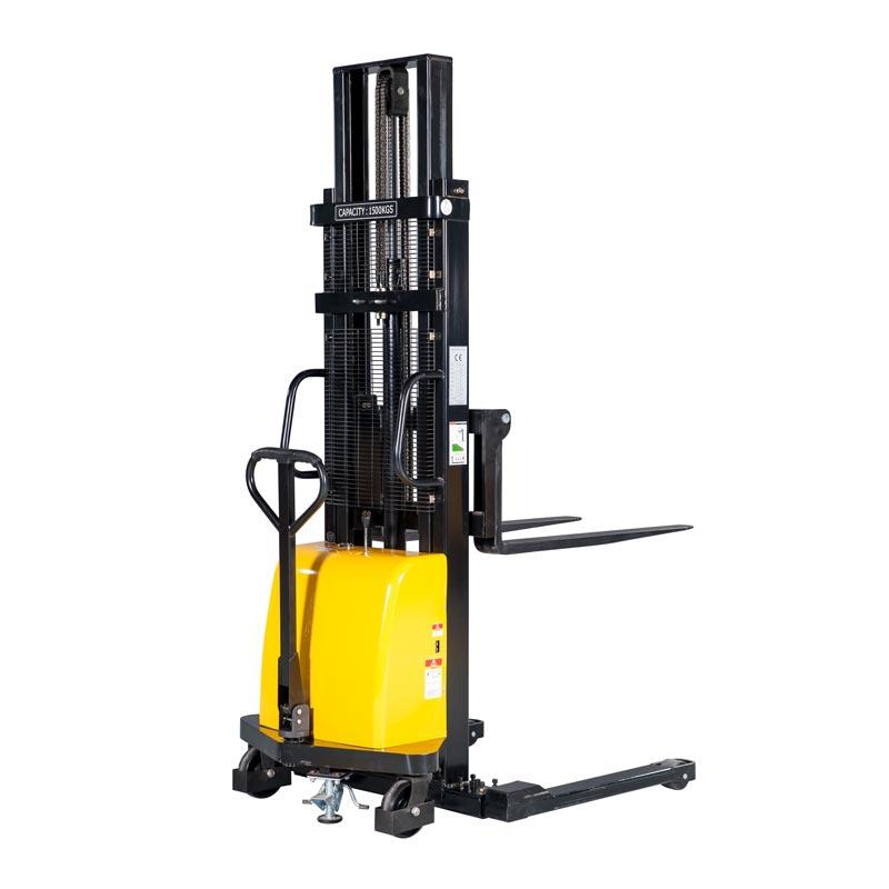 Manual Stacker Pallet Truck Semi-electric Straddle Leg Stacker