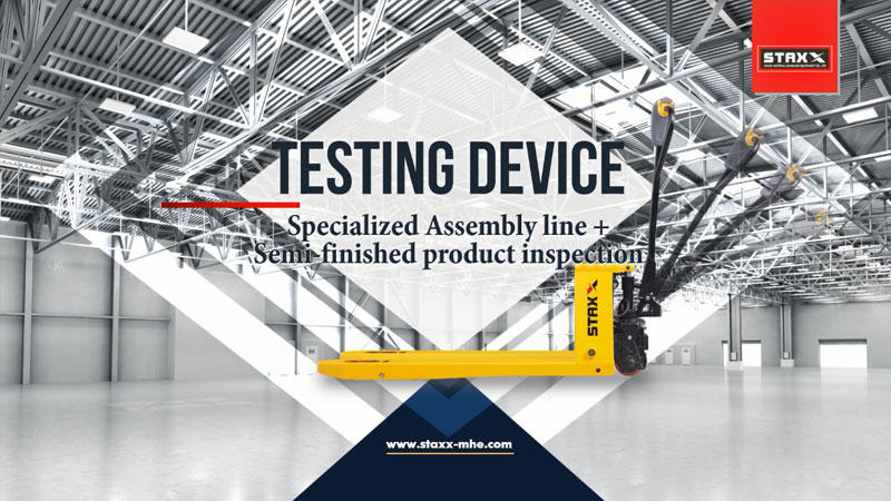 Custom pallet truck specialized assembly line and semi-finished product inspection