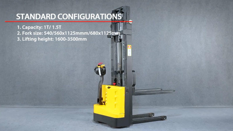 Intelligent light duty motorized pallet stacker WS-ei