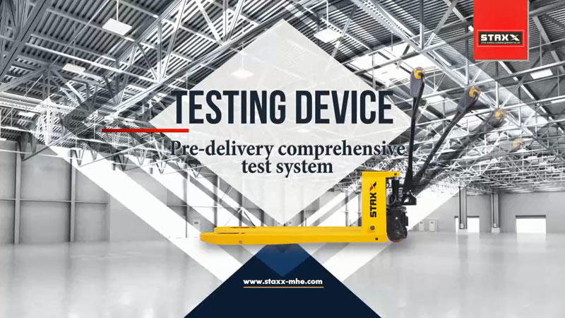 Portable pallet lifter Pre-delivery comprehensive test system