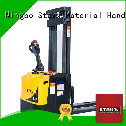 Staxx pedestrian fully electric stacker for business for hire