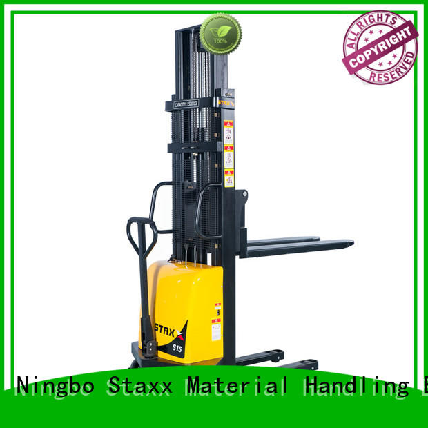 Staxx over electric pallet jack stacker company for warehouse