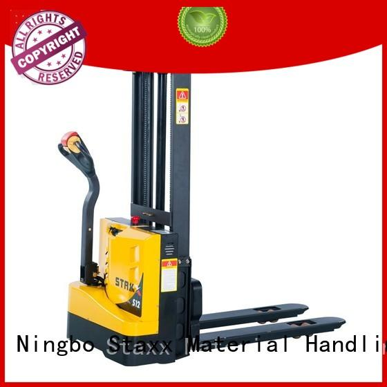 Staxx powered hydraulic stacker lift truck for business for rent