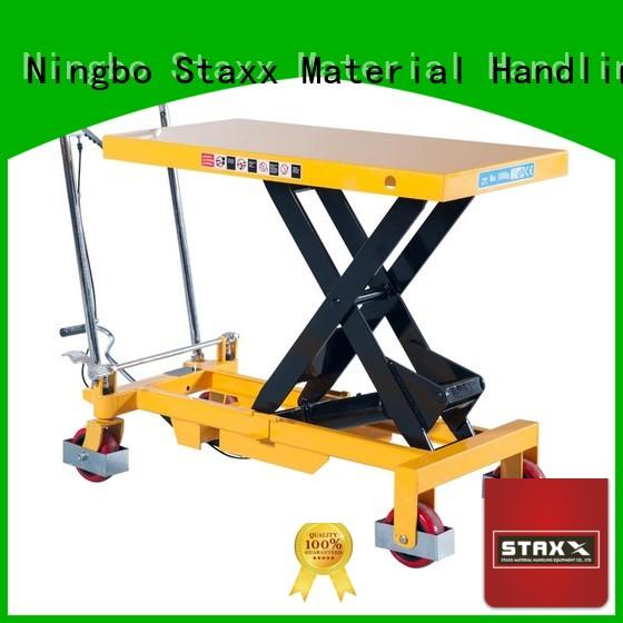 Staxx manual pallet jack lift table for business for stairs