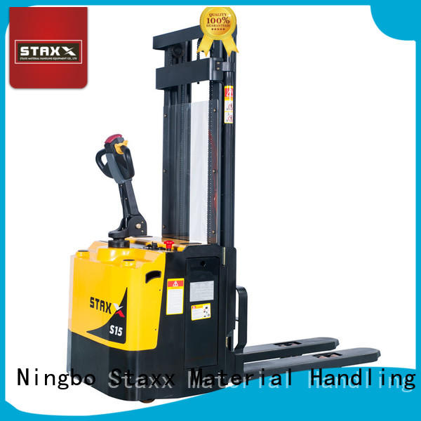 Staxx New electric pallet truck stacker factory for warehouse