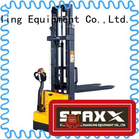 Staxx straddle hydraulic stacker manufacturers for hire