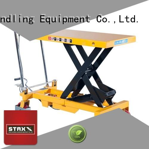 Staxx Latest industrial hydraulic lift factory for warehouse