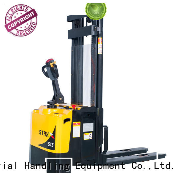 Custom semi electric stacker suppliers price for business for rent
