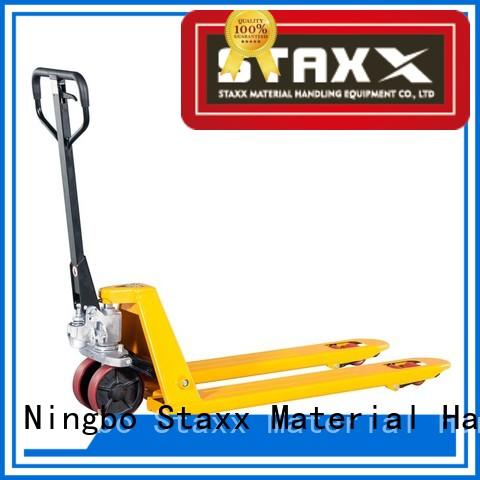 Staxx manual electric pallet jack parts factory for rent