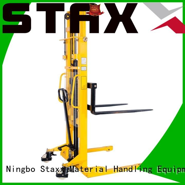 Staxx Latest straddle forklift company for hire