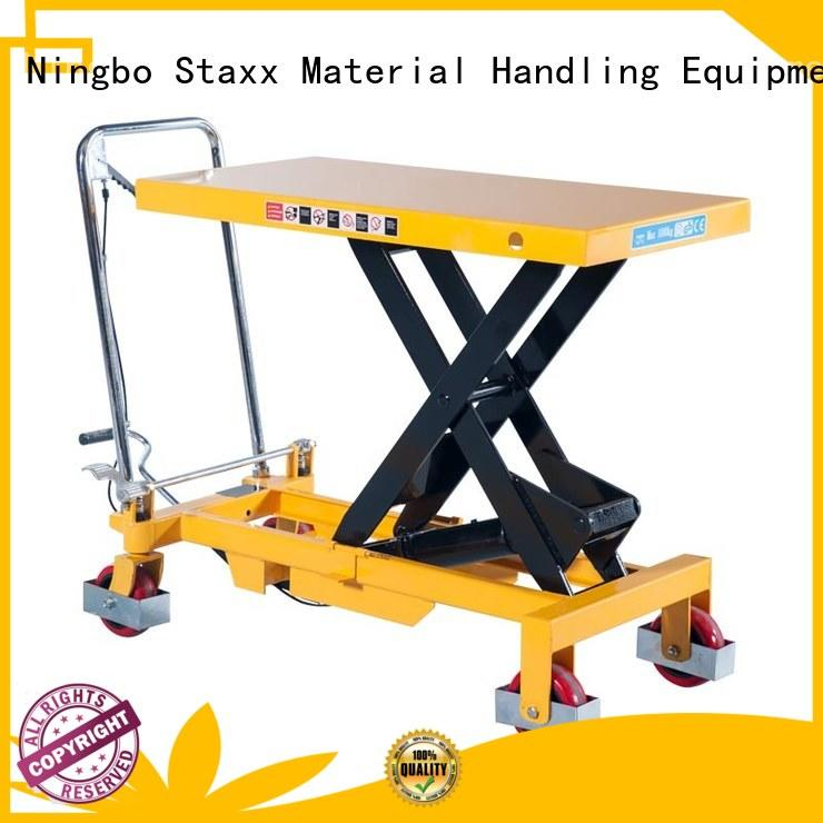 Staxx New tilting lift table factory for warehouse