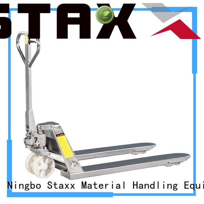 Staxx manual warehouse pallet truck factory for warehouse