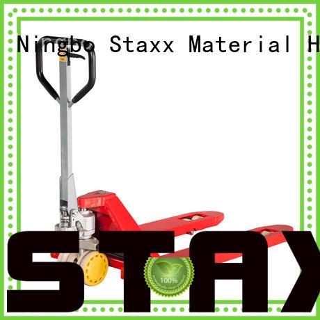 Staxx scissorliftpallet hand pump lift truck company for warehouse
