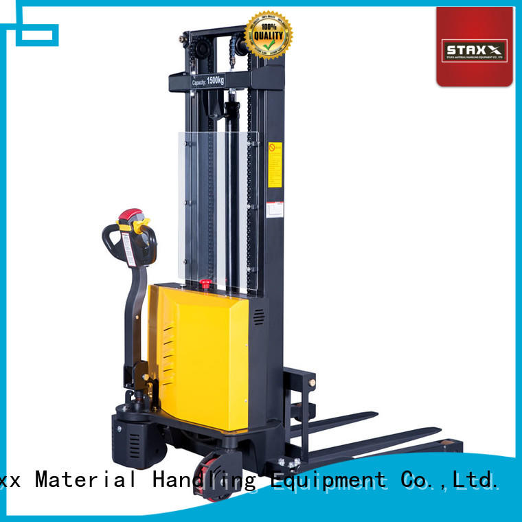 Staxx pedestrian hydraulic stacker lift factory for hire