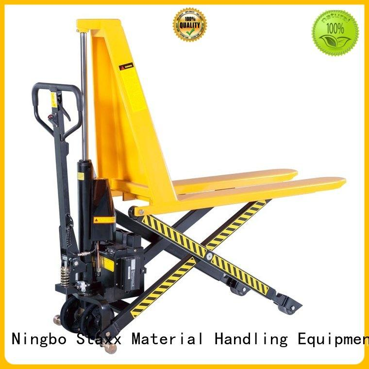 Staxx Wholesale low profile pallet jack company for rent