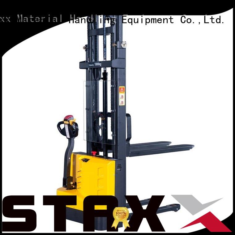 Staxx Custom electric lift pallet stacker manufacturers for rent