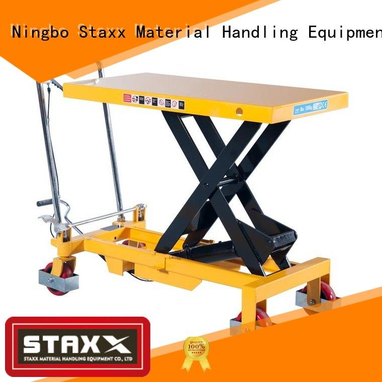 Staxx Latest industrial lift table company for rent