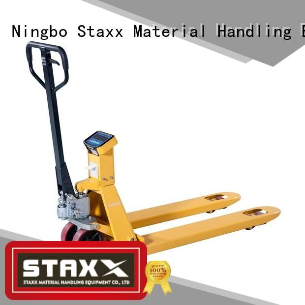 Staxx pallettruckssemielectricscissorliftehls low profile pallet truck company for rent