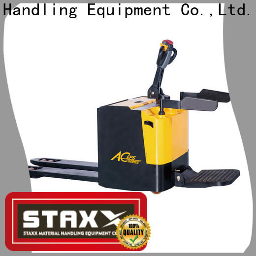 Staxx Top pallet jack driver company for rent