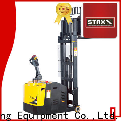 Staxx fork ride on pallet truck manufacturers for warehouse