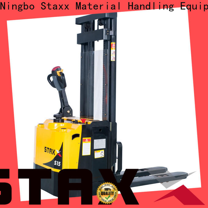 Top electric lift stacker specifications for business for rent