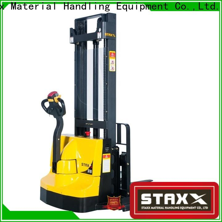 Staxx low full electric stacker manufacturers for warehouse