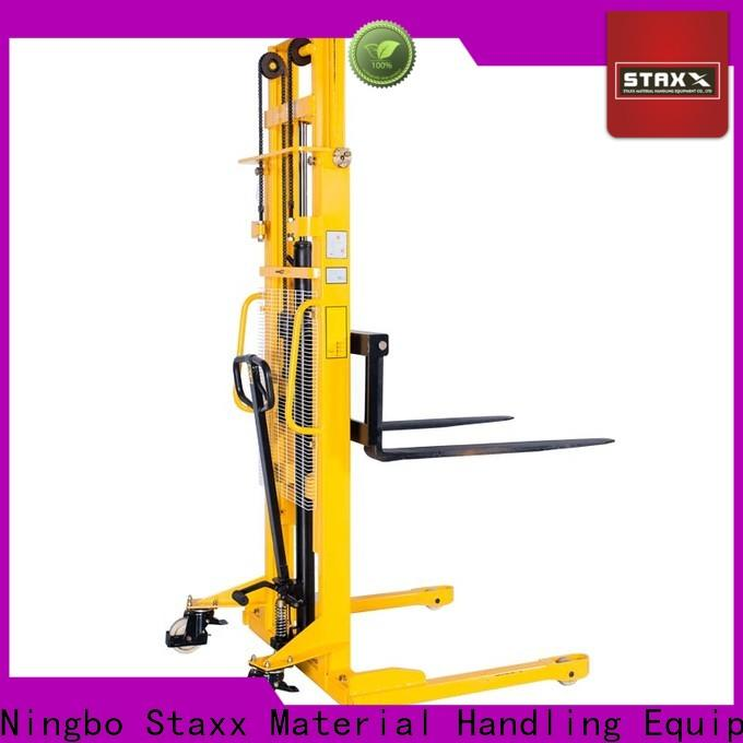 Staxx warehouse electric stacker price manufacturers for rent