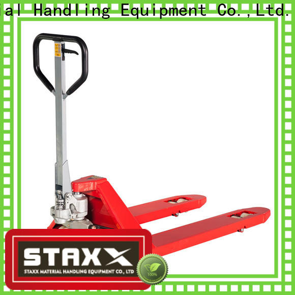 Staxx pallettruckssemielectricscissorliftehls pallet truck hand factory for warehouse