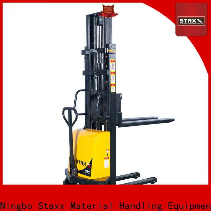 Latest full electric stacker series factory for warehouse