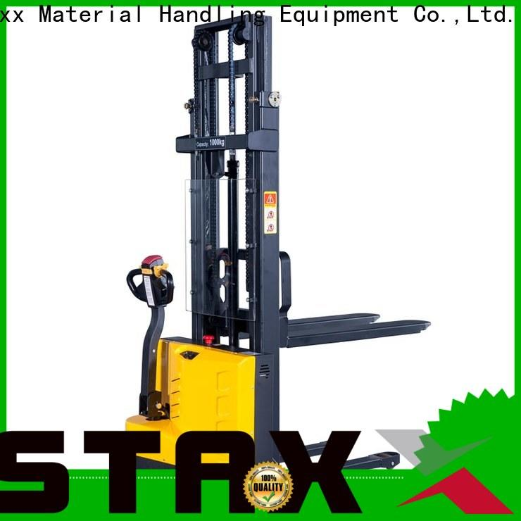 Staxx straddle semi electric pallet stacker Suppliers for rent