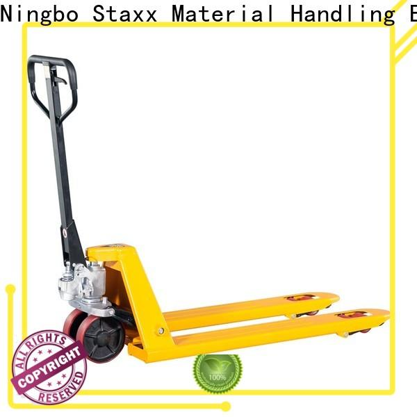 Staxx Custom short fork pallet jack manufacturers for stairs