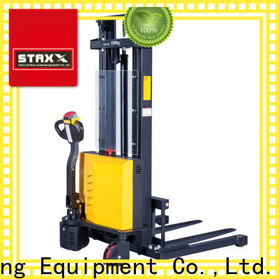 Staxx reach semi electric pallet stacker factory for warehouse