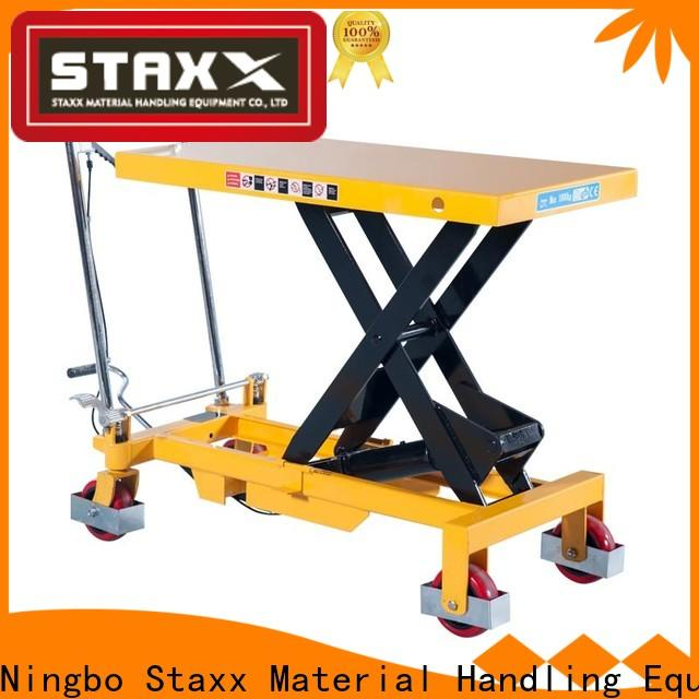 Staxx Top movable scissor lift manufacturers for warehouse