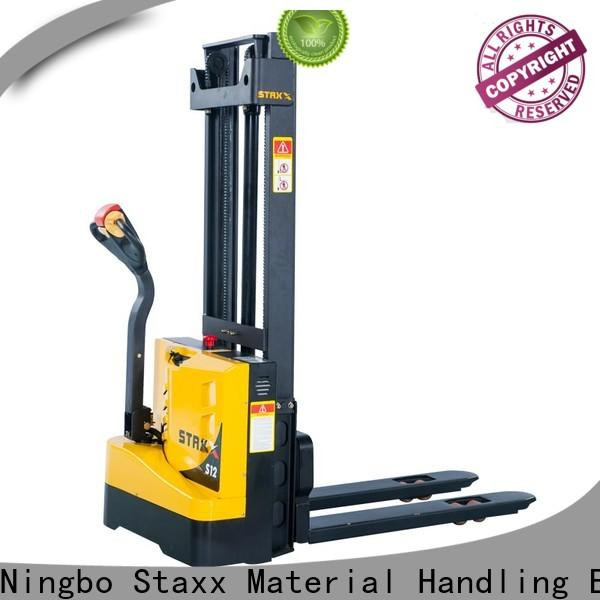 Staxx price full electric stacker manufacturers for warehouse