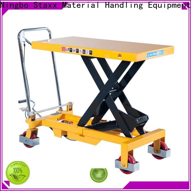 Staxx Latest hydraulic scissor lift platform Supply for warehouse