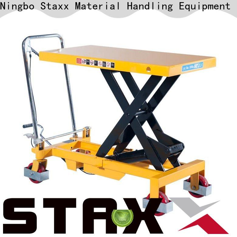 Staxx Custom electric lift table cart Suppliers for hire