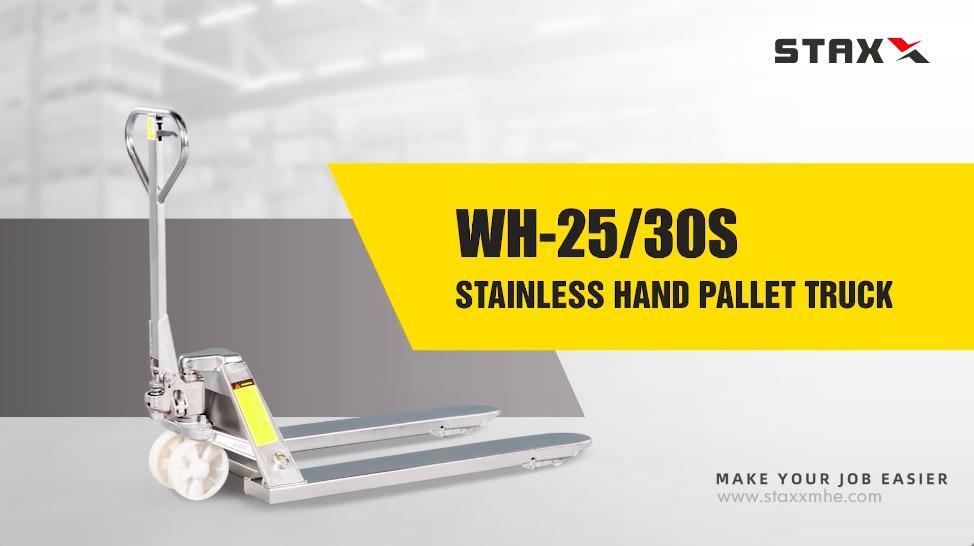 Camión de palets de alta calidad al por mayor WH-25 / 30S con buen precio - STAXX Wholesale - Ningbo Staxx Material Material Equipment Co., Ltd