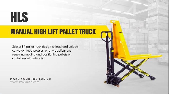 Customized MANUAL HIGH LIFT PALLET TRUCK manufacturers From China