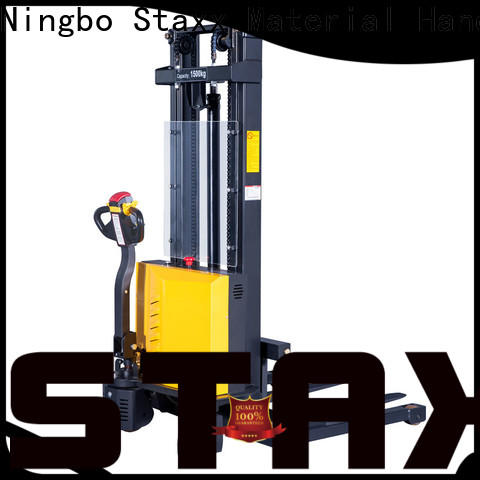 Staxx low electric lift pallet stacker manufacturers for rent
