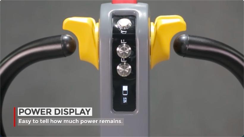 最佳的Staxx锂托盘车与符合人体工程学手柄和智能展示技术供应商