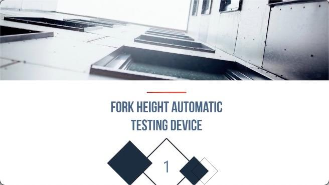 FORK HEIGHT AUTOMATIC TESTING DEVICE