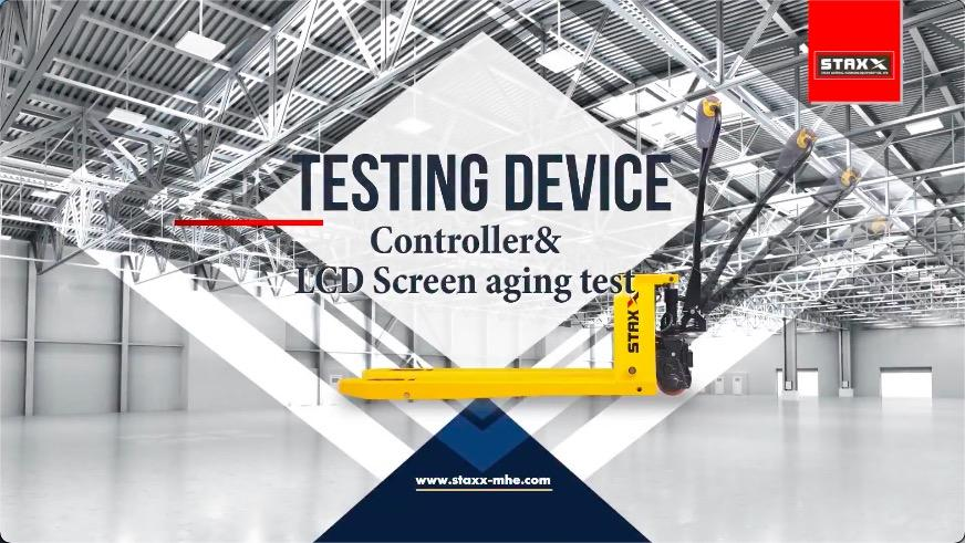 STAXX PALLET TRUCK CONTROLLER&LED SCREEN AGING TEST