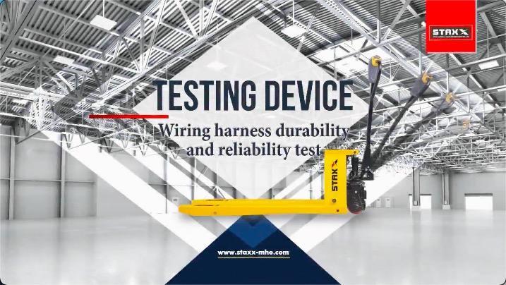 Staxx托盘卡车线束线束耐用性和可靠性测试