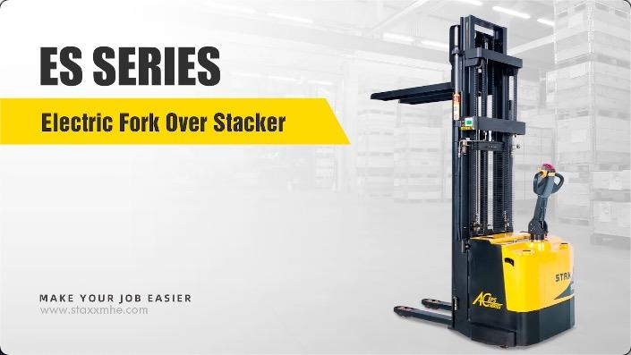 Customized Es Series Electric Fork Over Stacker