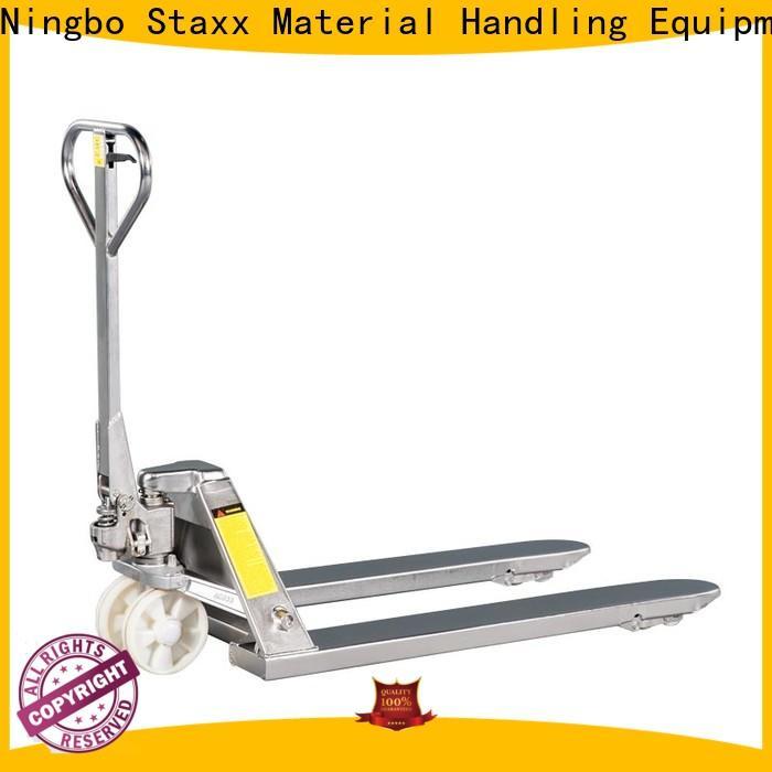 Staxx pallettruckssemielectricscissorliftehls hand pallet truck parts factory for stairs