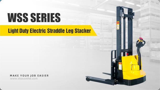 最佳轻型电动跨腿堆垛机良好价格-Staxx
