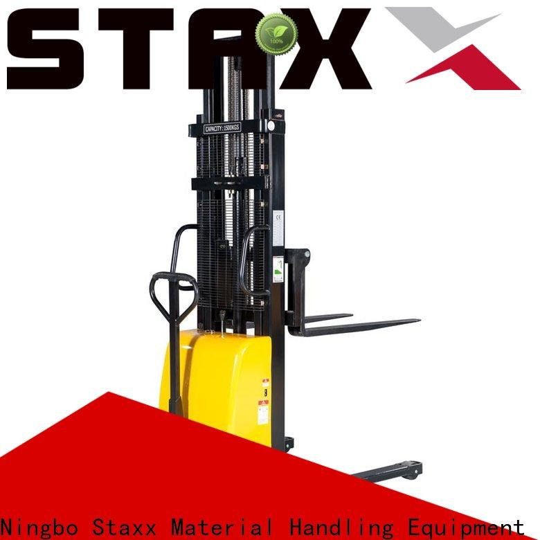 Staxx warehouse electric pallet stacker for business for hire