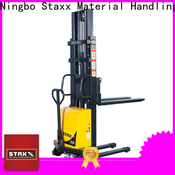 Staxx Pallet Jack over straddle lift truck factory for warehouse